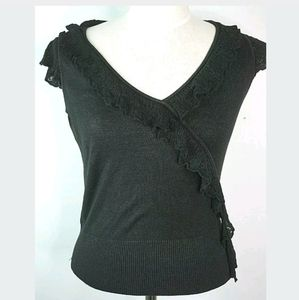 Banana Republic black blouse medium sleeveless
